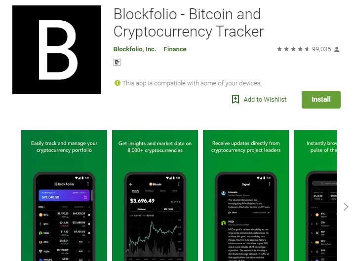 Blockfolio crypto currency tracker