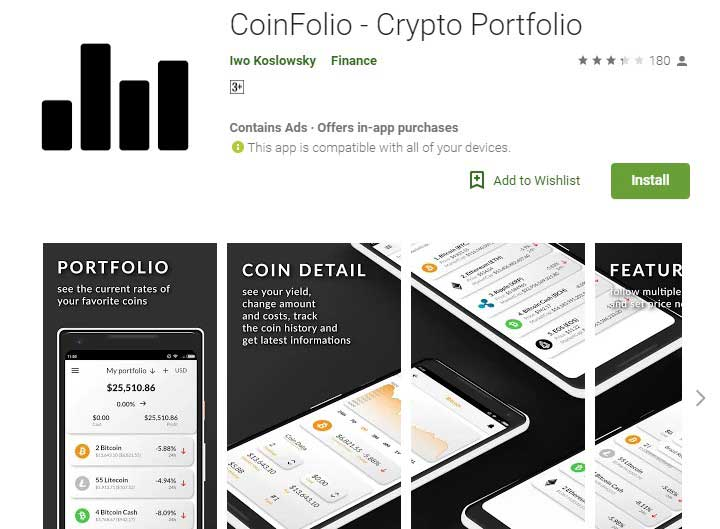Coinfolio  Crypto currency App