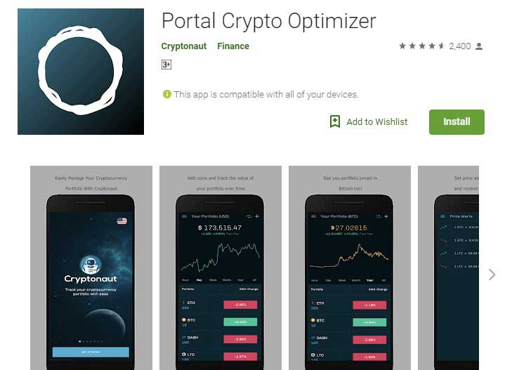 Portal Crypto optimizer App