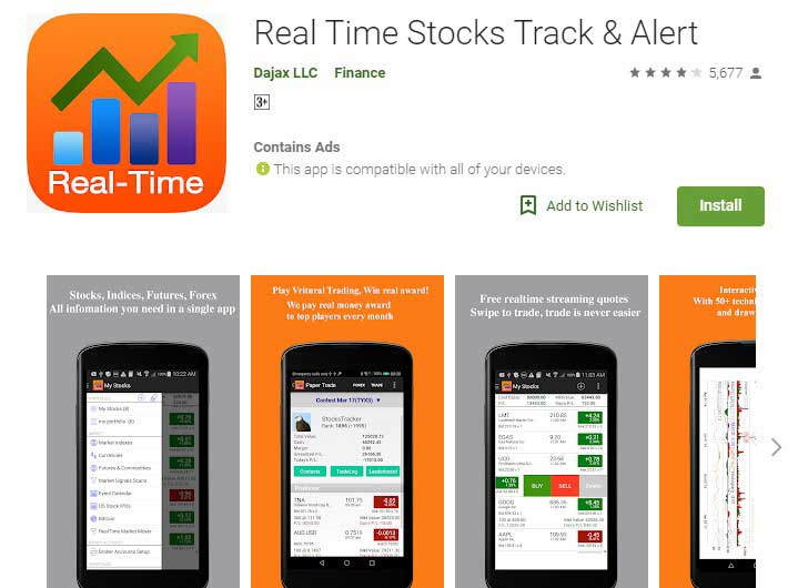 real time stock tracking app