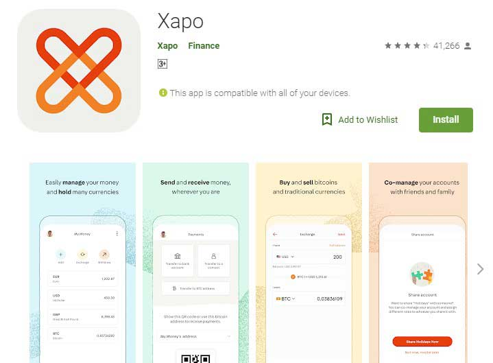 Xapo  Crypto currency wallet