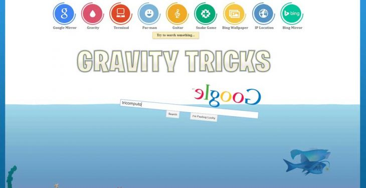 Google Gravity Tricks Which Will Make Your Day - Digital Built Blog