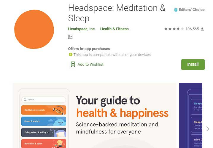 Headspace Free Meditation App
