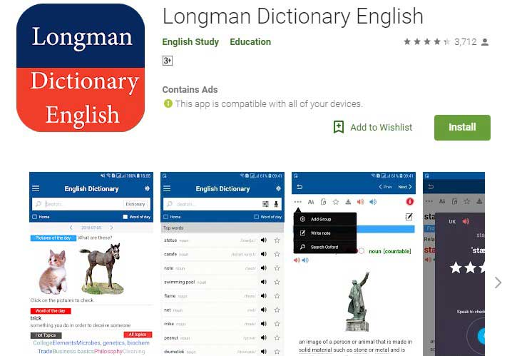Longman dictionary app for android