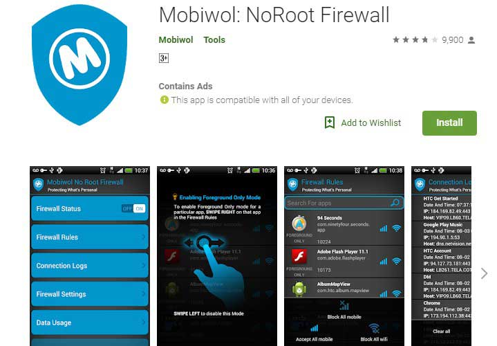 Mobiwol Firewall App for android