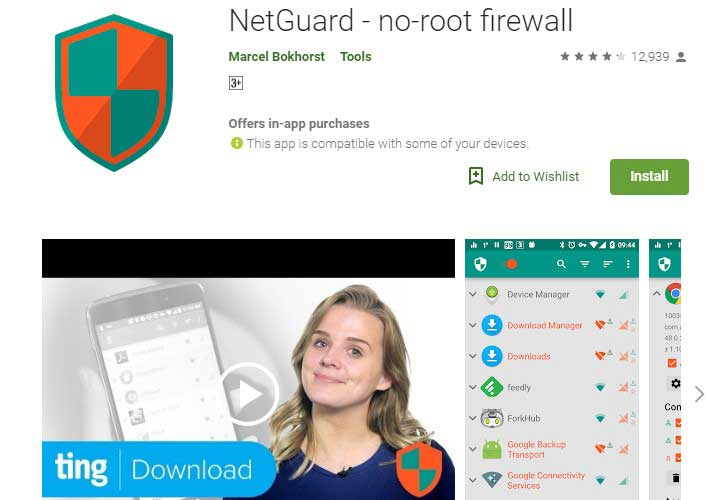 netguard Firewall Android app