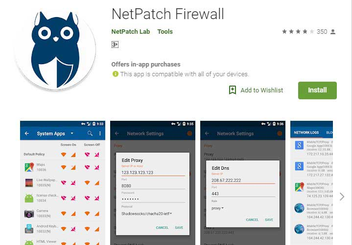 Netpatch firewall app