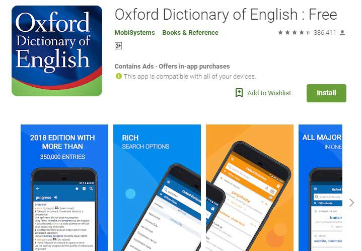 Oxford dictionary app for android