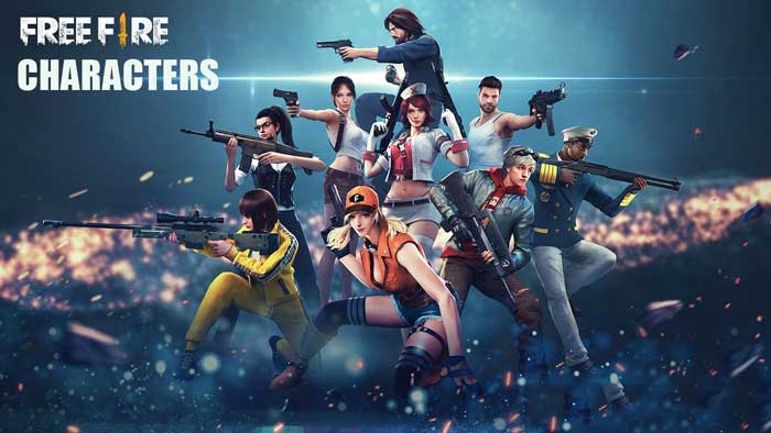 Garena Free Fire Game characters